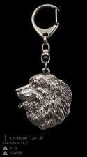 Bernese Mountain Dog, silver covered keyring, high qauality keychain Art Dog