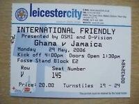 Tickets/ Stub 2006 International Friendly Match- GHANA v JAMAICA, 29 March