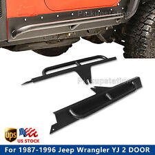 Side Step Nerf Bars for 1987-1996 Jeep Wrangler YJ 2 DOOR Running Board Black