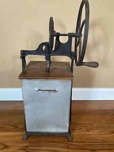 Vintage Antique Dazey Metal Tin Wood Butter Churn Model 230B