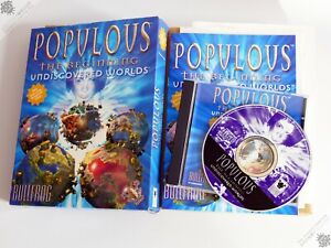 PC IBM POPULOUS THE BEGINNING UNDISCOVERED WORLDS WIN 95 BIG BOX COMPUTER GAME