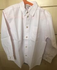 ONLY £10 !! Boys Summer Shirt ~ Pastel Pink ~ Age 8 ~ 100% Cotton