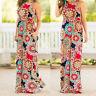 Women BOHO Floral Long Maxi Dress Sleeveless Evening Party Summer Beach Sundress