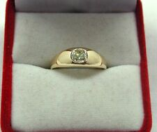Vintage Beautiful 18ct Gold Fancy Coloured Cushion Cut Diamond Solitaire Ring