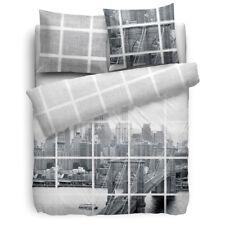 HnL Bettwäsche New York City NYC Brooklyn Bridge Dale grau big apple Motiv Satin