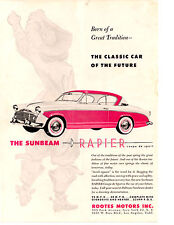 "1956 SUNBEAM RAPIER  ~  RARE ORIGINAL ""PINK CAR "" PRINT AD"