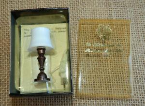 Vintage Dollhouse Miniature Table Lamp Light 1:12 Scale New #60