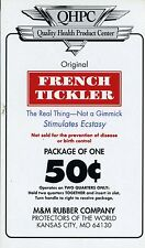 vtg condom machine decal sticker vending NOS French Tickler 50 cent