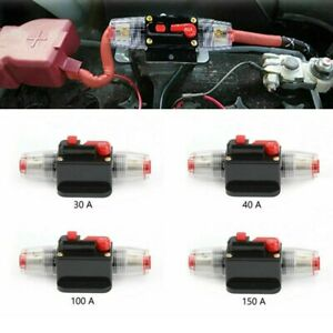 Circuit Breaker Inline 30A-150A Stereo AMP Fuse 12V DC Reset Electrical Supplies