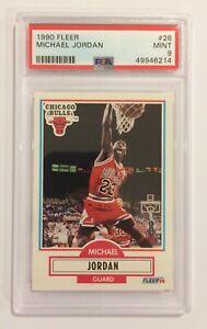 1990 FLEER BASKETBALL TRADING CARD - MICHAEL JORDAN #26 - MINT PSA 9