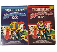 2 x Vintage Books - Trixie Belden Mystery-Quiz Book No 1 And Book No 2