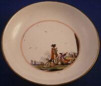 Antique 1740s Meissen Porcelain Scenic Scene Saucer Porzellan Szene Unterteller