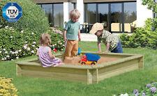 Sandkasten 150x150x25 cm Kinderspielgerät Spielgerät kdi Kinder Holz NEU
