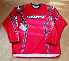 SHIFT ASSAULT SOLID MOTOCROSS RED JERSEY BMX MTB ATV OFF ROAD JERSEY SIZES L XL