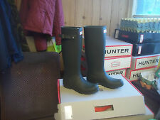 HUNTER   WELLINGTONS WELLIES IN HALIFAX  OLIVE GREEN  SIZE 4 TALL LADIES