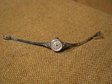 ███► vecchio orologio da polso da donna con 6 ZAFFIRI/835er ARGENTO -1960