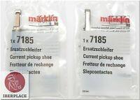 2x Märklin 7185 H0 escala 1:87 AC trenes Patín de contacto Current pickup shoe