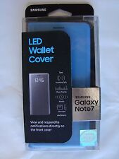 Genuine Samsung Galaxy Note 7 - LED Wallet Cover Case BLUE (EF-NN930PL