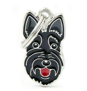 Scottish Terrier Dog ID Tag (81) - Engraved FREE - Personalised - Charm  Keyring