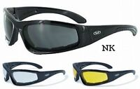 Triumphant Foam Padded Motorcycle Sunglasses-TRANSITION PHOTOCHROMIC LENS-Choice