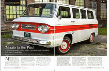 1962 CHEVROLET CORVAIR GREENBRIER ~ GREAT 6-PAGE RESTORATION ARTICLE / AD