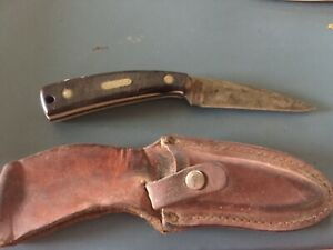 """Schrade Old Timer 1540T USA 3 7/16"""" Fixed Blade Knife Leather Sheath"""