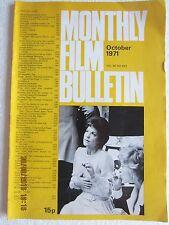 MONTHLY FILM BULLETIN-OCTOBER 1971-VOL 38 NO 453