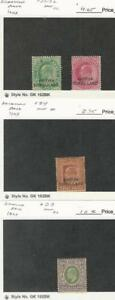 Somaliland, Postage Stamp, #21-22, 24, 33 Mint Hinged, 1903-04, JFZ