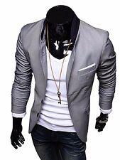 Fashion Men Casual Slim Fit Two Button Suit Blazer Coat Jacket Tops outwear