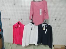 4 WOMEN TOP EVERLAST SPORT WORKOUT CLOTHING JACKET FLEECE T-SHIRT LARGE L LOT