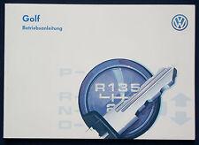 Betriebsanleitung VW GOLF Handbuch Bordbuch 1996 /1997