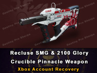 Recluse PVP Pinnacle Weapons 2100 Glory Destiny 2 Xbox Recovery