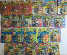 TMNT PLAYMATES LOT (22) NEW MOC UNPUNCHED Average C-8 Wacky Sewer Military Movie