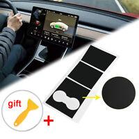 Center Console Wrap Kit Inner Cover Car Stickers+Scraper Kit For Tesla Model 3