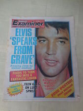 "Vintage-National Examiner magazine september 27,1977 Elvis ""Speaks from grave"""