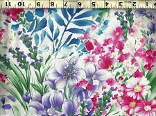 Timeless Treasures ~ Fleur Watercolor Floral ~ 100% Cotton Quilt Fabric BTY