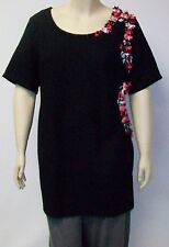 DUTCH DESIGNER YOEK,THEIR SIZE LARGE BLACK, ENHANCED, POLYESTER TUNIC.