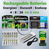 4 8 12 AA / AAA Rechargeable Batteries DURACELL ENERGIZER EBL ENELOOP lot Ni-MH