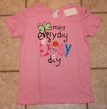 NWT Girl Scouts Girls Large 14/16 Make Every Day a Daisy Day Pink T-Shirt