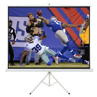 """100""""D Tripod Portable Projector Projection 16:9 Screen 87x49 Fold-able Stand"""