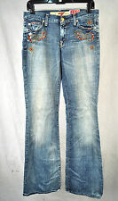 7 For All Mankind Seven Great China Wall Flare Havana Crystal Jeans 27 USA