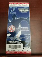 2004 WORLD SERIES GAME #7 FULL TICKET-RED SOX/CARDINALS