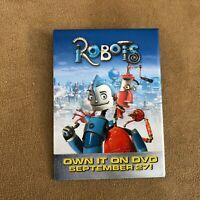 Robots movie Rodney Copperbottom poster button pinback vintage promo pin dvd