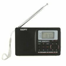 Portable Mini FM/AM/SW Radio Wide Band Bass Stereo MP3 Player REC Recorder