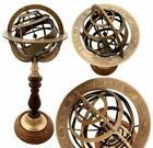 "13"" Brass Armillary Sphere Engraved Nautical Astrolabe World Globes Gift Item"