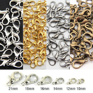 100Pcs Plated Lobster Clasp Claw Buckle Hook Finding Jewelry Necklace DIY Craft