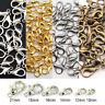 100Pcs Silver/Gold/Bronze Lobster Claw Clasps Hooks Finding DIY 10/12/14/16mm