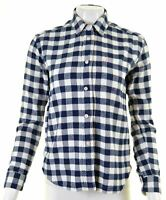 JACK WILLS Womens Flannel Shirt UK 8 Small Blue Check Cotton Loose Fit  HX07