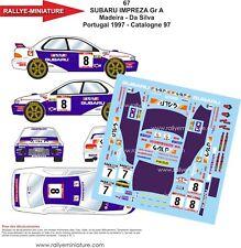 DECALS 1/24 REF 67 SUBARU IMPREZA WRX RUI MADEIRA RALLYE ESPAGNE 1997 RALLY WRC