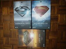 Hot Toys Man of Steel Lot de 3: MMS200 Superman MMS216 GENERAL ZOD MMS201 Jor El